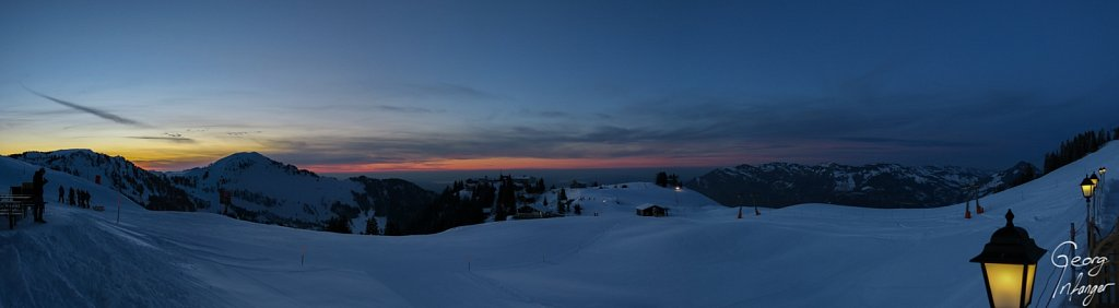 - abendlicht eveninglight klewenalp kms last light late day light panorama schnee schweiz sunset switzerland teamevent winter