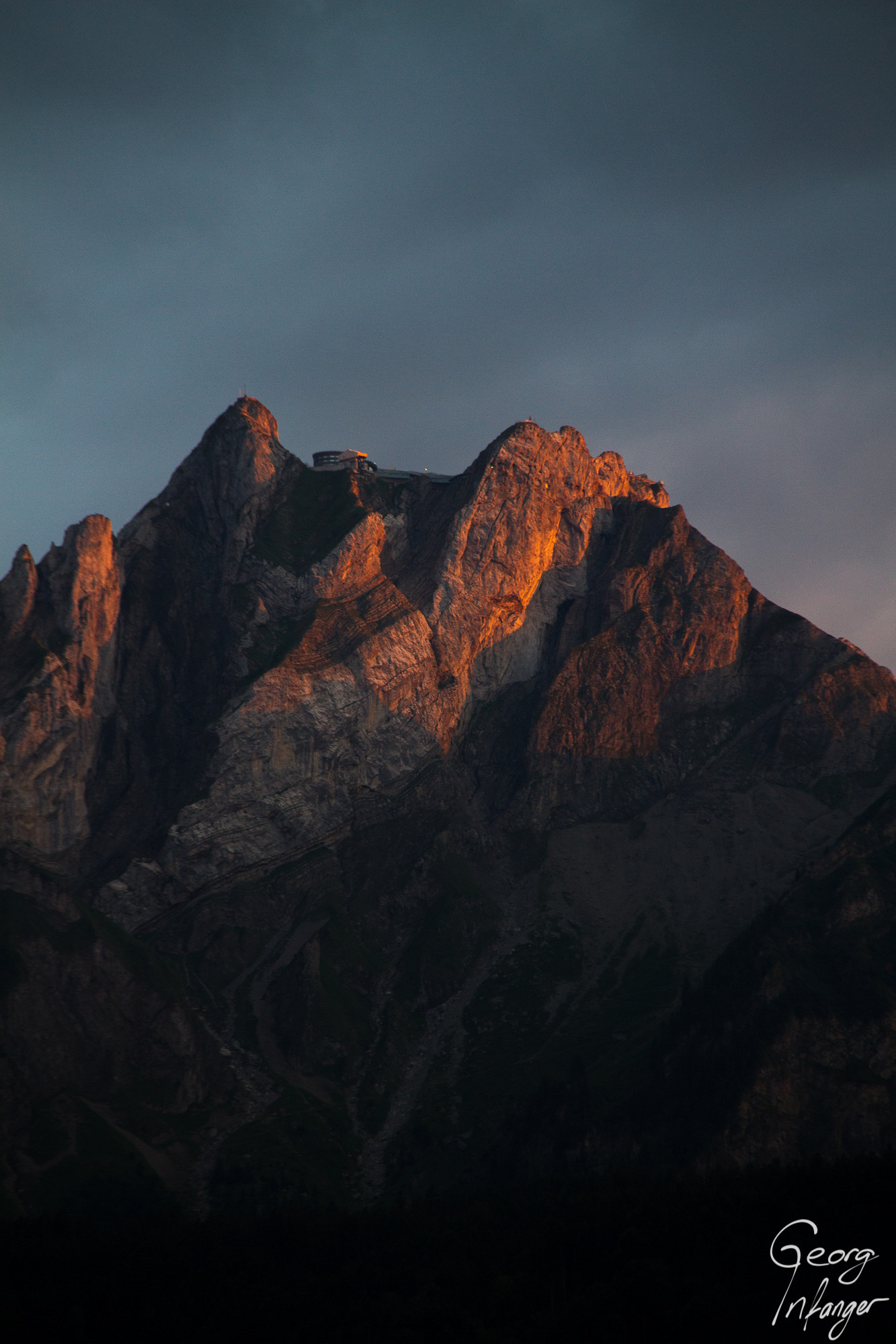 Mt. Pilatus in sunset light-
